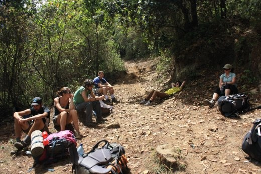 A resting spot on our hike up Pico Zunil, an extinct volcano