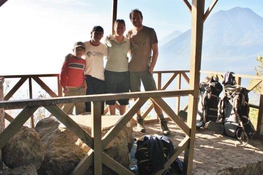 Views over a hazy Lago de Atitlan