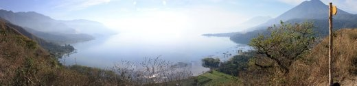 Lago de Atitlan in the morning - fingers crossed we get a clear day.