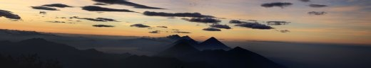 Sunset panorama from the summit of Pico Zunil