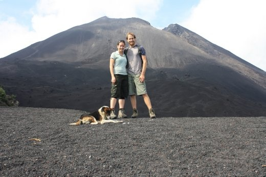 Volcana Pacaya - no longer with open lava for roasting marshmallows =(