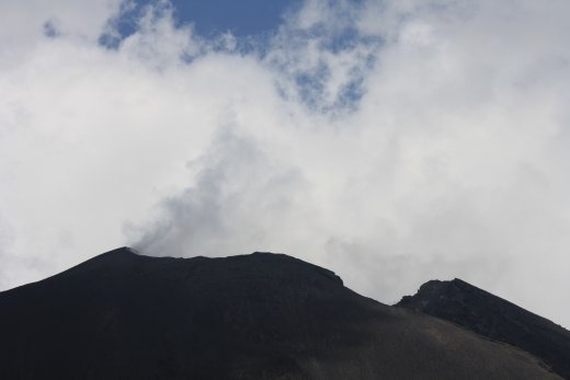 A little eruption at Pacaya