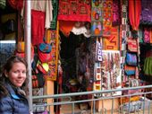 Bron at the Witches Market in La Paz - loads of excellent alpaca and llama based textiles: by elis82, Views[198]