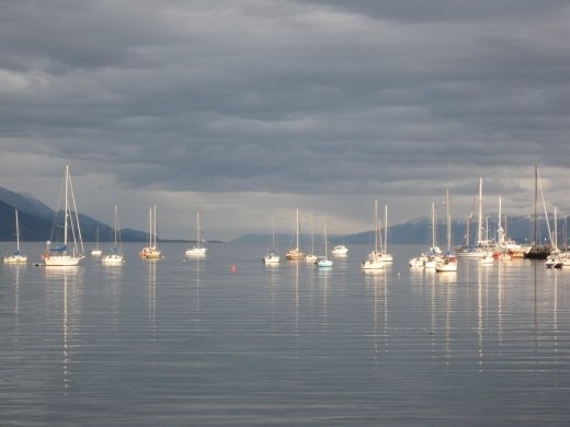 Ushuaia's harbour. Nice in the evenings