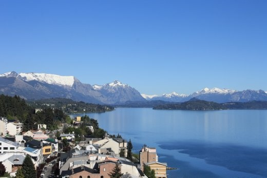 View from our hostel in Bariloche. It's a great place =D
