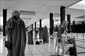 Robes and hijabs (or tudungs as they are known in Malaysia) are lent out to unprepared tourists upon entering the mosque.: by elisafisher, Views[433]