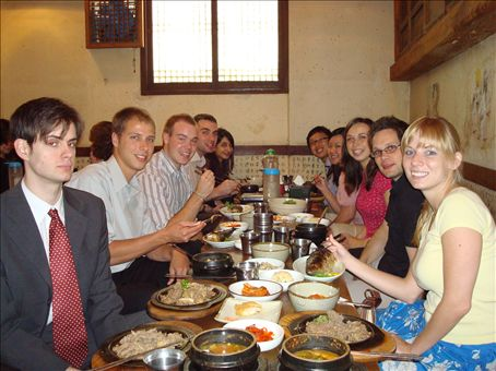 The YBM new teachers at our last lunch together.