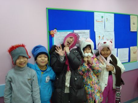 My crazy Carnival 1 class.  I took pictures of everyone who had adorable hats...please note the awesome character hats!!!