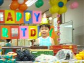 Birthday Boy Eric.  Who is seriously one of THE cutest kids.  Sorry that it's blurry, but it's the only pic I got of him smiling!  haha: by ellen, Views[866]