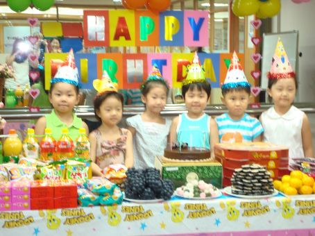 All the Stanford birthday kids: Matilda, Emma, Sally, Eric, James, and Chenny