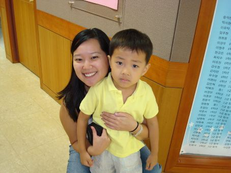 Me with Junghwan...the CUTEST kid at ECC.  He is, by far, one of my favorites.  And he lets me squish his cheeks.  lol