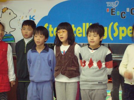 They were sooooo good.  They are so lucky to have a teacher like me...(a complete lie b/c I didn't help them with their story...the Korean teacher did, haha)