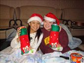 Me and Joe with our stockings.  I was really sick and slept most of the day/evening.  But I got up just in time for the stockings and Secret Santa exchange! ;): by ellen, Views[101]