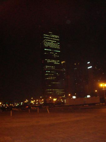Night view of 63 Building.  Although it's not the tallest building in Korea anymore, it's the most famous.