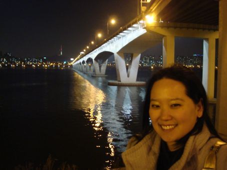 Me on the Han River with Namsan Tower in the background.