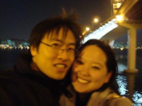 Chang Gyu and I on Han River