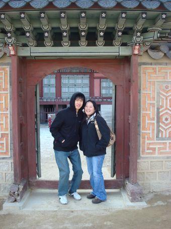 Chang Gyu and I at Gyeongbokgung Palace