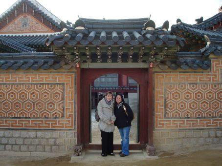 Priscilla and I at Gyeongbokgung Palace.