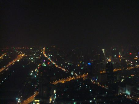 Another view from the top of our hotel in Bangkok.
