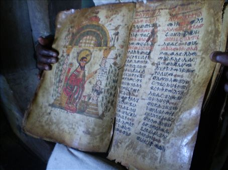 900 year old book not faring too badly. Pages made of goat hide.