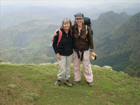 Day 1 in Simien Mts - Vanda and me