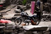 Signs of interactions between nature and humans exist everywhere in Nepal, sometimes to an extreme degree. It must have been quite the journey to get this motorcycle into this mountain village. : by ellioteliash, Views[173]