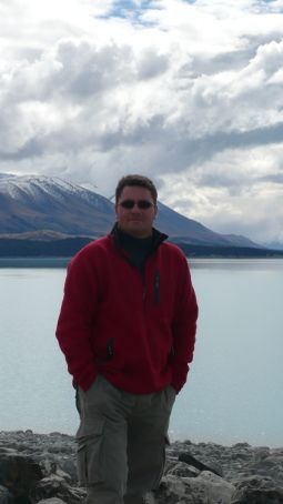 Andy over Lake Pukaki