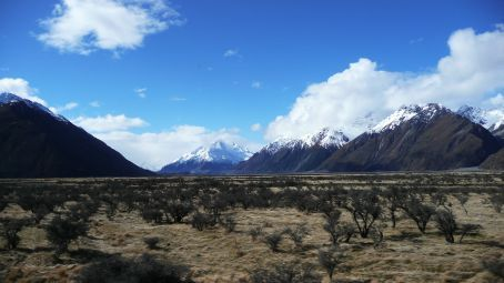 Looking back at Mt Cook
