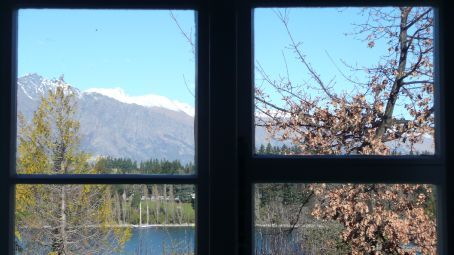 The view from our room over the Remarkables
