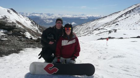 Em and I at The Remarkables, ready to take a run down.