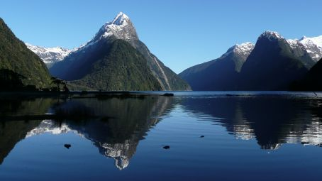 Mitre Peak over Milford Sound