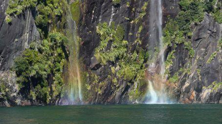 Waterfall rainbows
