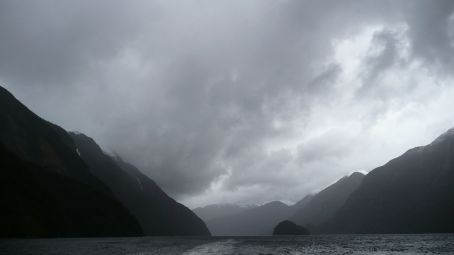 The rain just added to the feeling of Doubtful Sound.
