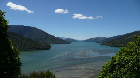 View over looking Marlbrough Sounds