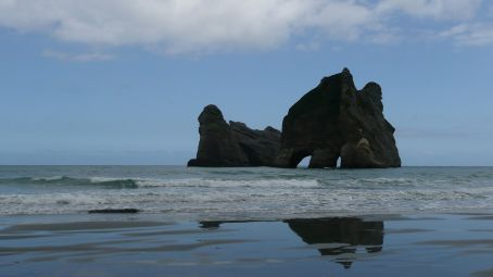 The Arch rocks just South of the Spit