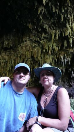 Em' and Andy after a hike up to the Cave