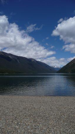 The bay at Mohana's lodge
