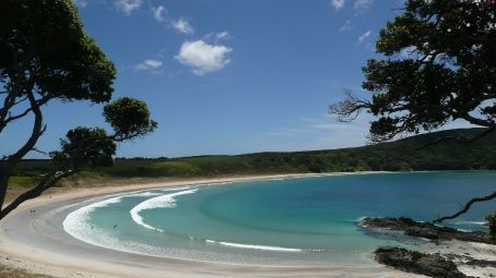 Horseshoe bay on the Kerikeri Peninsula