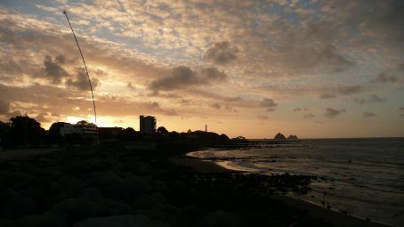Sunset on the walk