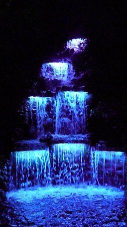 Colourful waterfalls