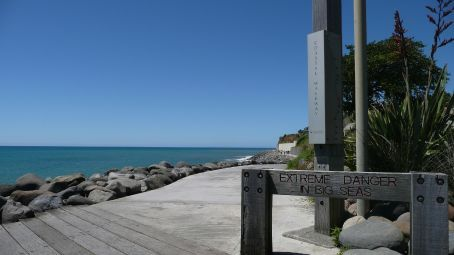 Only in NZ, a walkway with a warning