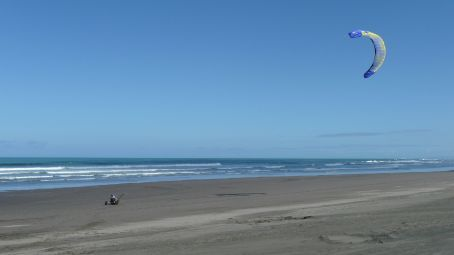 Andy finally got to buggy on a Black sand beach