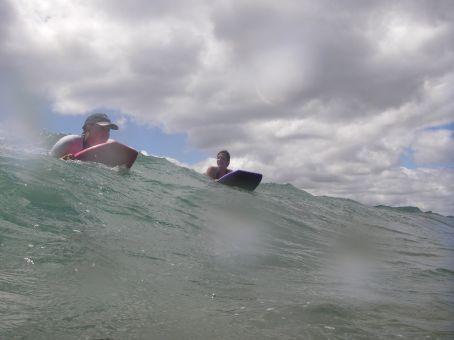 Having fun on a Bodyboard