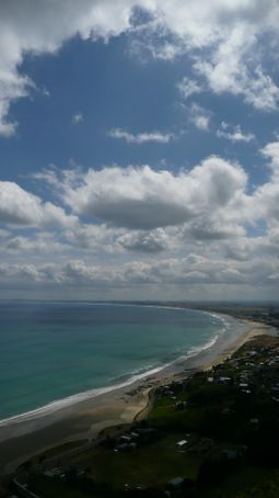 View of Ninty mile beach from the lookout above the hostel