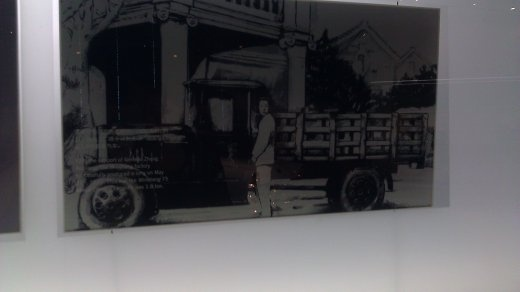 Artist's rendering of Ming Sheng truck, the first Chinese built truck in China