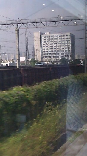 Buildings viewed from the moving train - I love my phone's camera!