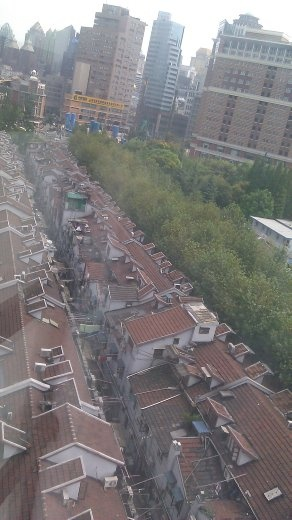 Typical Shanghai housing as seen from my Kingtown Hotel window