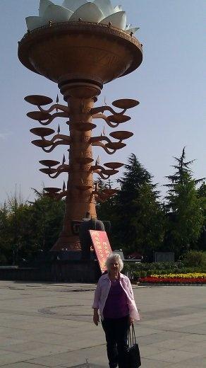 Ebeth at Lotus Sculpture at People's Park
