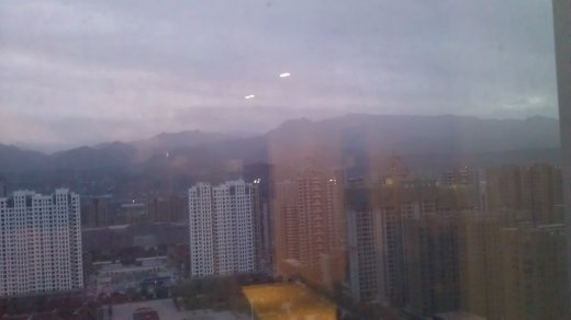 Mountain sunrise from my hotel room window