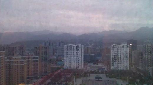 Mountain sunrise from my hotel window (23rd floor)